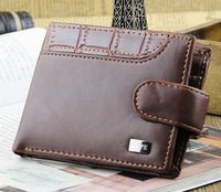 2016 New Casual Fashion Design Suction Buckle Short Coin Wallet, Men Wallets Free Shipping - Raja Indonesia