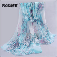 2017 New Print Chiffon Scarves Women Muslim Hijab Spring And Autumn Georgette Women's Scarf Chiffon Silk scarfs from india - Raja Indonesia