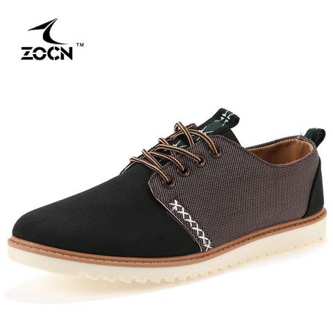 ZOCN 2016 New Mens Shoes Casual Canvas Shoes For Men Autumn Fashion Shoes Men Flats Zapatillas Hombre Breathable Lace Up Cheap