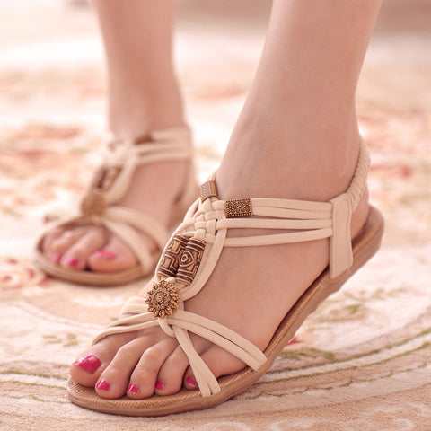Women Sandals Shoes Woman Summer Gladiator Sandals Beach Flats Ladies Shoes Hot Sandalias Mujer Black