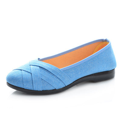 2017 New arrival Women Fashion Casual Shoes Work Flats sapato feminino Ladies Wholesale Price Slip On Flat shoes Plus Size 35-40 - Raja Indonesia