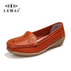 2017 Women Flats Genuine Leather Mother Shoes Moccasins Women's Soft Leisure Female Driving Shoe Flat #WD561 - Raja Indonesia