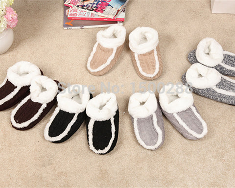 Winter Warm Men's Home Indoor Slippers Wool Soft Surface Household Slippers Thick EVA Soft Bottom Men Slippers Free Size 38-42