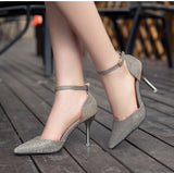 2017 New Fashion Ladies High Heels Buckle Strap Women Pointed Toe Shoes Stiletto Gorgenous Ladies led Shoes#HR168 - Raja Indonesia