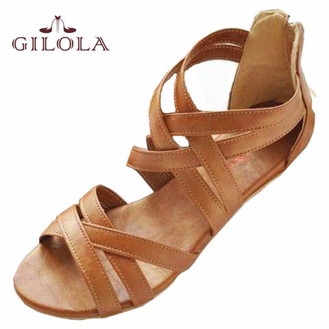 GILOLA new women sandals women shoes spring summer shoes black brown best quality #Y0508616F - Raja Indonesia