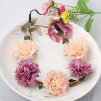 2016 Hot Sale Bride Bohemian Flower Headband Festival Wedding Floral Garland Summer Hair Band Ponytail Headbands Accessories - Raja Indonesia