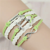 2017 New Womens Fashion Vintage Anchors Rudder Rectangle Leather Bracelet Multilayer Charm Bracelets Best Valentine's Day Gift - Raja Indonesia