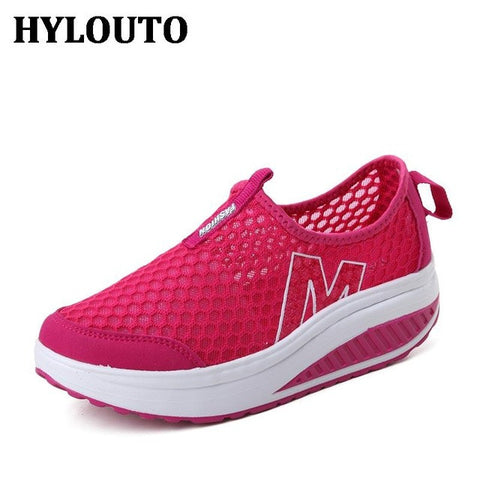 Height Increasing Summer Shoes Women's Casual Shoes Sport Fashion Walking Shoes for Women Swing Shoes Breathable - Raja Indonesia