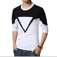 2017 New fashion casual floral high quality cotton t-shirt  geometric  long sleeved t shirt o neck T-shirt print  t shirt men - Raja Indonesia