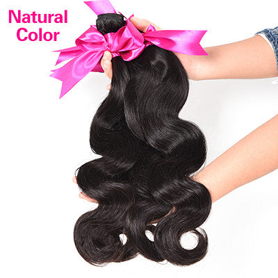 8A Malaysian Body Wave 4PCS Malaysian Virgin Hair Body Wave Rosa Hair Products Soft Malaysian Hair Extension Human Hair Bundles - Raja Indonesia