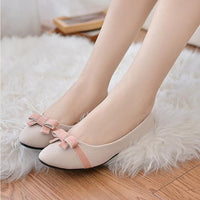 2017 New Arrive Fashion Women Shoes Spring Bowknot Single Shoes Ladies Flat Leisure Sweet Darling Casual Female Students Shoes - Raja Indonesia