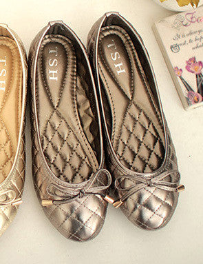 Elegant Bowtie Spring and Autumn Women Flats Fashion Boat Shoes Woman Casual Brand Single Shoes Plus Size 41 Free Shipping Y014 - Raja Indonesia