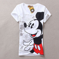2017 summer women t-shirts girl casual harajuku style elephant mario cute cartoon minnie mouse print t shirt tee top tops shirts - Raja Indonesia