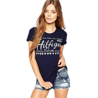 2017 New Fashion Women T-shirt Letter Printed T-shirts Women Tops Short Sleeve t shirts Female Harajuku Tees S-2XL T shirt 60580 - Raja Indonesia