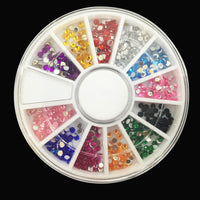 1Pack Nail Decoration Diamond 12 Color Nail Art Diamond Glitter,3D Nail Art Tools Decorations Rhinestones Jewelry Makeup Tools - Raja Indonesia