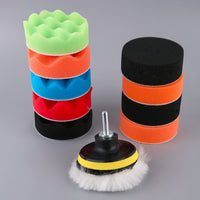 2016 New WY-3012-3/4/5/6/7 Inch 12pcs/set Universal Car Polishing Pad Set M14 Cleaning Polish Sponge Wheel Set Car Styling Tools - Raja Indonesia