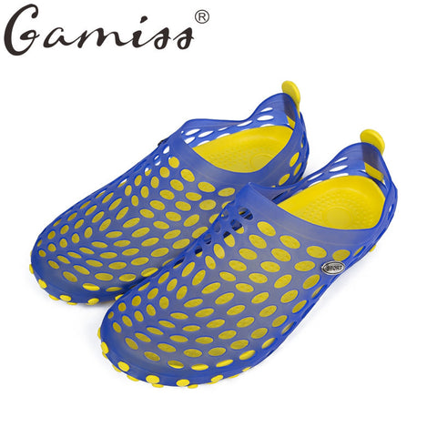 Gamiss Summer Casual Male Hollow Jelly Breathable Garden Slipper Shoes Men Flat Casual Sandals Men Garden Shoes Beach Sandle - Raja Indonesia