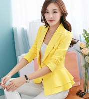 2015 Hitz long-sleeved suit jacket female Korean Slim flounced short paragraph small suit - Raja Indonesia