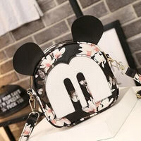 2017 Four Seasons Fashion New high-quality PU leather Handbags Small Square Bag Cute Mouse Printed Shoulder Bag Organizer - Raja Indonesia