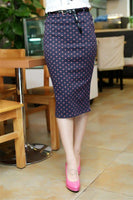 2016 Multi-Color Modern OL Style Women - Raja Indonesias Slim Fitted Knee Length Pencil Skirt High Waist Straight Lady Polka Dot Skirts - Raja Indonesia