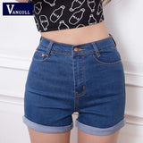 2016 New Fashion women's jeans Summer High Waist Stretch Denim Shorts Slim Korean Casual women Jeans Shorts Hot Plus Size - Raja Indonesia