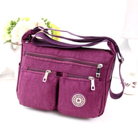 2017 new fashion women's waterproof nylon oxford fabric messenger bag quinquagenarian casual canvas small handbag - Raja Indonesia