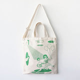 LALA IKAI 2016 New Designer Eco Bag Summer Green Women's Handbags Trendy Canvas Big Shopping Tote Hipster Beach Bag BWA0483-49 - Raja Indonesia