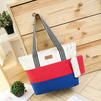 2017 Casual Canvas Women'S Big Bags Handbags New Arrival Brands Striped Shoulder Bag Female Tote Bags Women Sac A Main S29 - Raja Indonesia