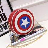 Shoulder Bags For Women Captain America  Small Plastic Shield Circular Cute Chain Printing Messenger Bag Mochila Femininas