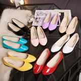 2016 Spring Women Ballet Flats Pointed toe Patent Leather Slip on Flat Shoes Shallow Cute Candy Color Loafers basic Casual Shoes - Raja Indonesia