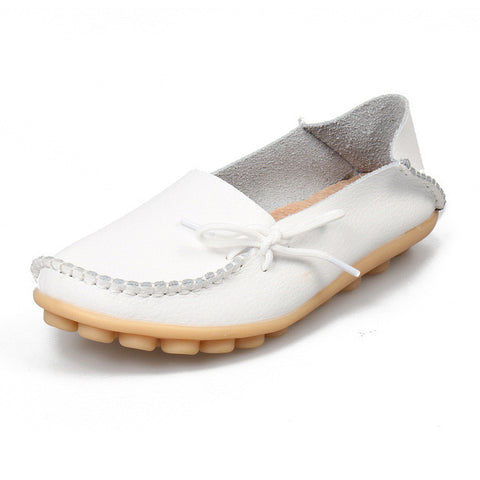 De La Chance Fashion Women Casual Shoes Breathable Women Flats Slip On Loafers Moccasins Female Ladies Shoes Plus Size 41-44 - Raja Indonesia