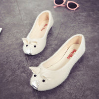 2017 New Fashion Spring And Summer Flat Heels Low Shallow Mouth Mouse Shoes Female Shoes Girls Flat  Shoes Women Loafers - Raja Indonesia