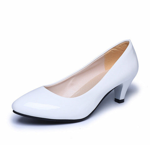 Women Fashion Shallow Casual Pointed Toe Pumps Low Heels Wedding Shoes Pumps Ladies Elegant Office Work Sapatos feminino Dec14