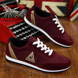 2016 new mens Casual Shoes canvas shoes for men Lace-up Breathable fashion summer autumn Flats pu Leather fashion suede shoes - Raja Indonesia
