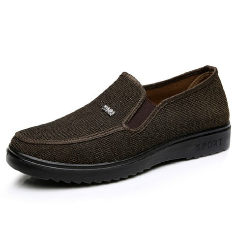 Special Price Spring Men Flats Hemp Breathable Men Loafers Gray Driving Shoes Rubber Father Shoes X893 35