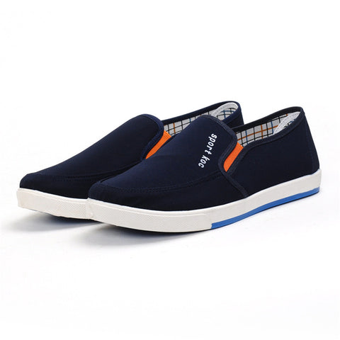 2017new Mens Canvas Shoes Flat Casual Shoes Black Blue Gray  Spring Autumn Shoes Chaussure Femme - Raja Indonesia