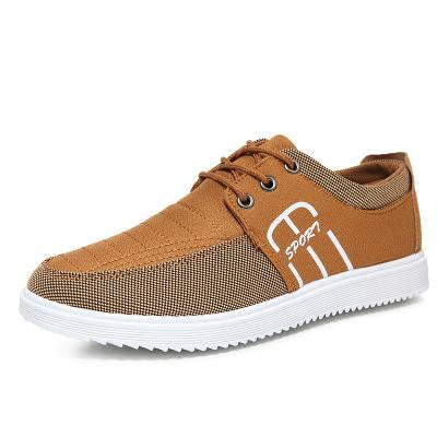 Canvas Zapato Zapatilla Casual Hombre Shoes Brand Men  Lace-up Flat With Spring/autumn Mens Zapatos - Raja Indonesia