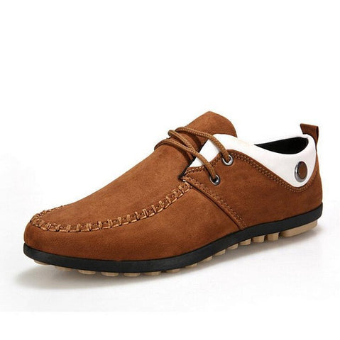 Men Shoes 2015 New Suede Leather Flat Men's Fashion Casual Shoes Solid Male Footwear For Men Zapatos Hombre - Raja Indonesia