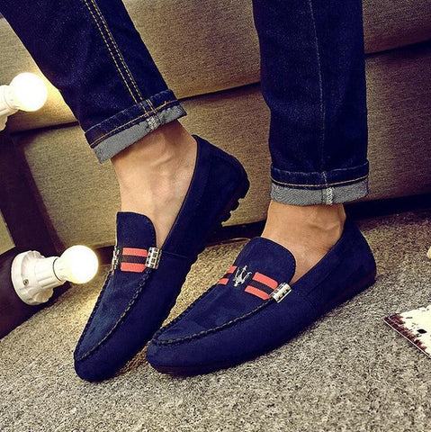Mens Shoes Casual  Fashion Men Shoes Leather Men Loafers Moccasins Slip On Men's Flats Male Shoes - Raja Indonesia