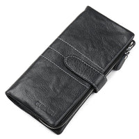 2017 new Brand men Genuine leather wallet long purse trifold card holder luxury designer clutch business removable coin purse - Raja Indonesia