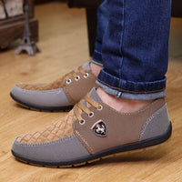 2016 Spring Brand Men Shoes Casual Lace up Canvas Men Flat Shoes Low Breathable Suede Classic Casual Men Shoes M0005 - Raja Indonesia