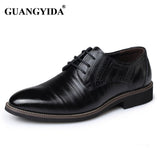 2017 Men Dress Shoes Genuine Leather shoes Top Quality Italian Craftwork Brogues Oxfords Derby wedding shoes for men - Raja Indonesia