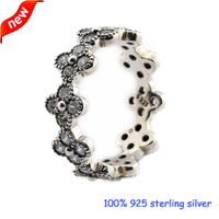 2016 Summer Style Oriental Blossom Silver Rings with Clear CZ Original 100% 925 Sterling Silver Jewelry DIY Wholesale 08R092 - Raja Indonesia