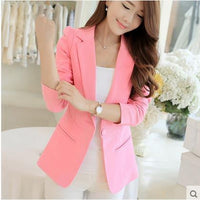2016 summer women elegant blazer fashion women blazers and jackets ol sleeve blazer female - Raja Indonesia