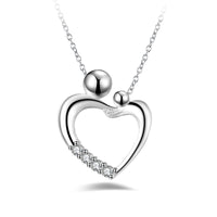 2016 Silver Color heart necklace with 18in cross chain Wholesale Fashion love vintage women engagement Jewellery free shipping - Raja Indonesia