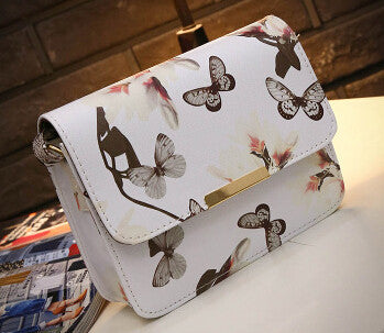 New elegant quality pu leather handbag women bag styling spray daffodil butterfly stamp sweet girl little square package F40-689 - Raja Indonesia