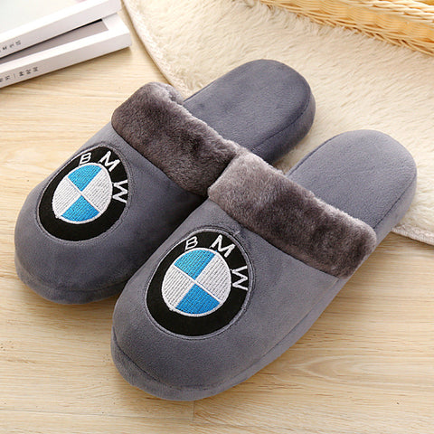 New Arrival Cotton Slippers Winter Couple Men Anti-skid Thicker Home Cute Cartoon Male Warm Wool Plush Slippers - Raja Indonesia