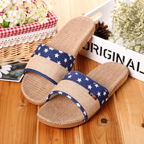 New Hot 2017 Summer Beach Indoor slippers Home Bathroom Flat Heels Slippers Large size Flax Shoes for Men Summer Slippers - Raja Indonesia