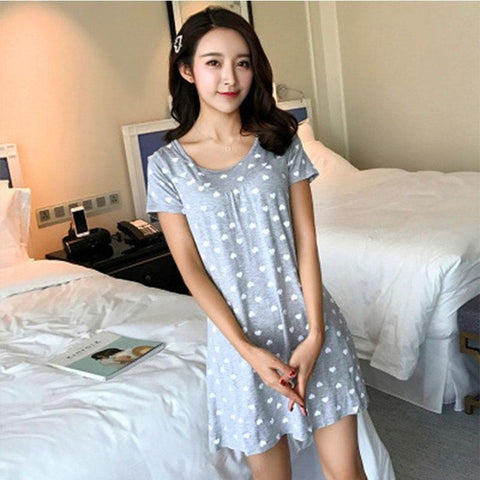 Sleep Dress Cotton Sleepwear With Bra Women Nightwear Cotton Babydoll Summer Pyama Woman Plus Size Nightdress Ladies