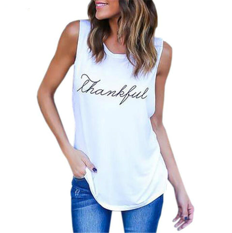 2017 Sexy Casual Printed T-Shirts Tops European and American Sleeveless Vest T Shirt Tee Plus Size Summer Women Tops Tanks GV568 - Raja Indonesia